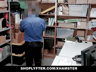 Redhead Teen Caught Stealing Persuades Officer With Sex