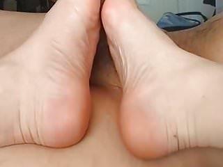 Handjob, footjob, shoejob (attempt) cum and milking part 2