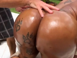 Getting sexy and enormous with little black bitch