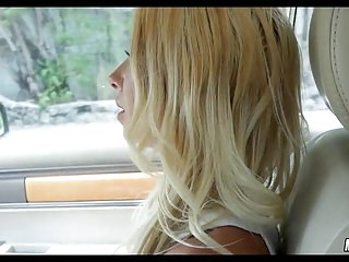 Sexy Blonde Sucks in the car