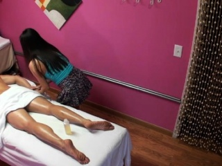 Real oriental masseuse riding dick for cash