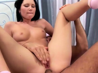 Horny babe with a piercing gets fucked