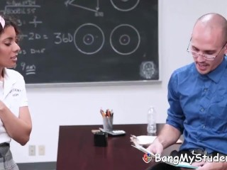 Schoolgirl Cheater Maya Morena Gets Punished By Penile Code
