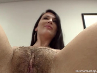 Hairy cunt fucks on sating