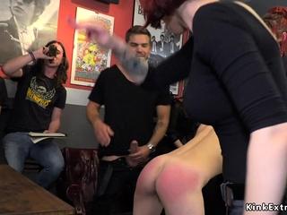 Small tits Euro blonde fucks in public
