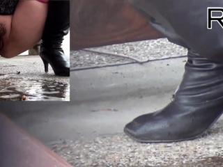 Asian piss floods floor