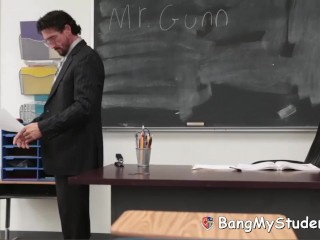 High School Principal Fucks Slutty Student Jade Ambers