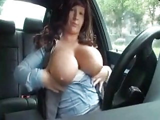 Big titties and bad wig driving