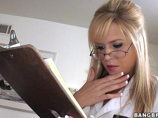 Hot blonde nurse drilled hard video