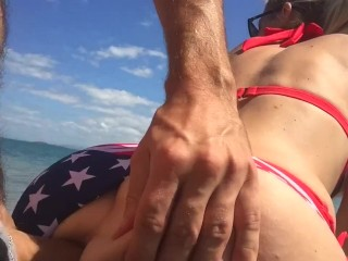 Alone on the island.. & Cum in Ass