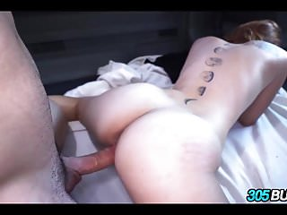 Amateur with Glasses Fucked on Bus