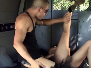 Handcuffed slave feet licking nylon He parks out in the midd