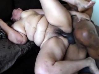 Interracial hardcore with a BBW