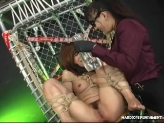 Asian Teen In Bondage Dominated Toyed and Humiliated In Femdom Scene