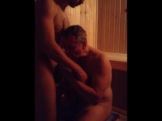 Dad Son Bareback Sauna Fuck