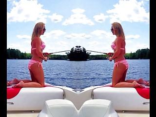 Jenna Hunter Bikini & Thong Jerk Challlenge
