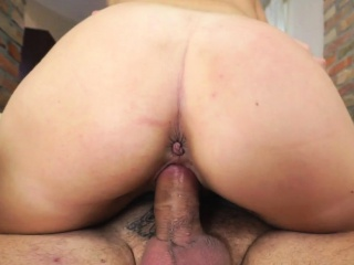 Latina gets old cock cum