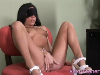 Blindfolded 18yo cockrides doctor after bj