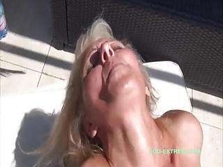 Fucking granny on the balcony!