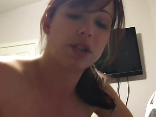 Girlfriend sucks cock