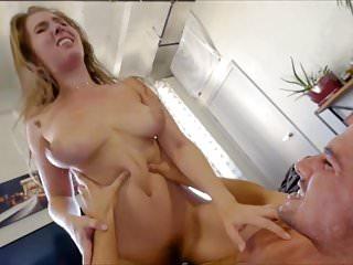 Lena Paul Tits In Kitchen