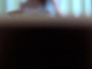 Asian babe rubs on spycam