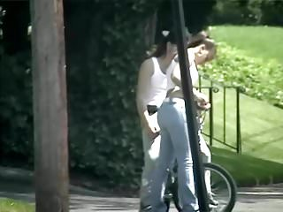 candid - hot teen nice ass in tight jeans
