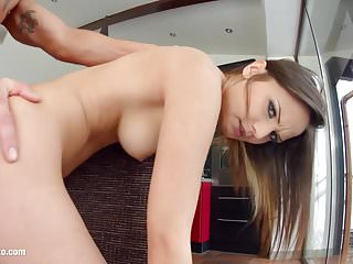 Anina getting a dick deep in ass for anal on Ass Traffic