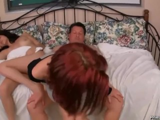 step dad fucks daughter while mom is sleeping..