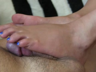 Footjob Toejob Girl