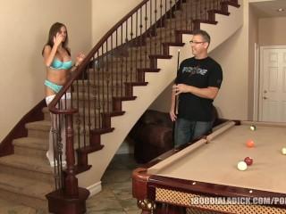 800DAD Big Tit Milf railed on Pool Table