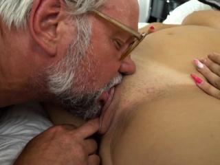 Teen tasted by grandpa