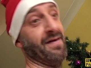 British bbw sub dominated with christmas dick