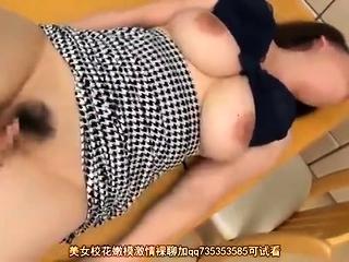 Sweet Japanese handjob and blowjob