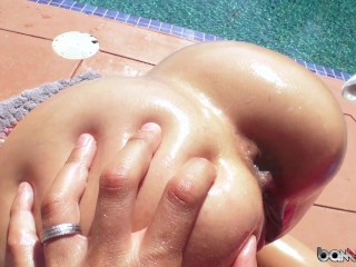 Ass Licking and Anal Butt Plugs Poolside