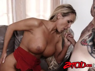 Blonde MILF Teagan James Gets Fucked Hard By a Tattooed Stud