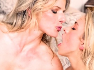 Teen and step mom licking then fucking