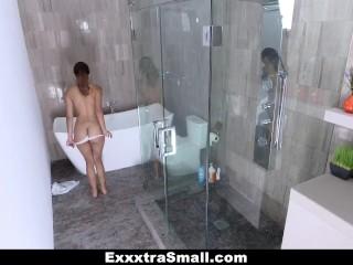 ExxxtraSmall - Horny Petite Latina Fucks StepBro In The Bathroom