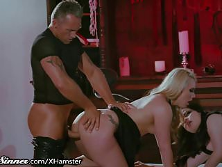 SweetSinner Master Makes Slaves AJ & Yhivi Cum Hard