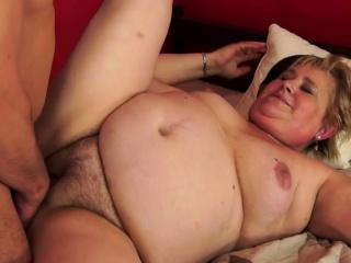 Fat granny gets banged