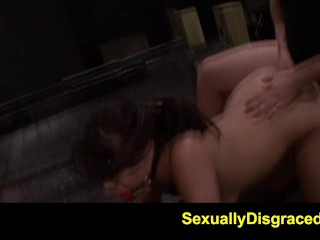 FetishNetwork Mena Li gets hard spanking bondage in sybian