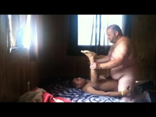 Chubby Bear Fucks and Cums Inside Mexican Chaser
