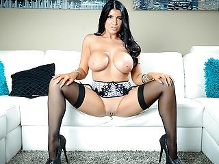 Pornstar Tease - Watch Romi blast her tiny pink pussy