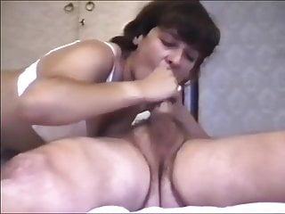 homemade milf stockings riding cock cumshot swallow blowjob