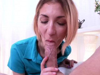 Young Anal Tryouts - Deep blowjob at first
