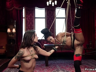 Slave training iniciation for ebony babe