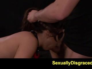 FetishNetwork Mena Li gets hard spanking bondage in sybian