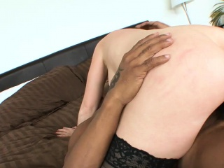 Bald dude gets to fuck a redhead babe