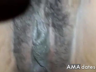 fucking her ass hard and creampie