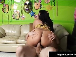 Cuban Queen Angelina Castro Pounded By Long Cock On Cam!